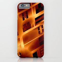 Abstract 379 Orange Geometric Windows iPhone Case