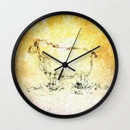 Draw me a sheep Wall Clock