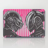 daft punk iPad Cases featuring Daft Punk by Ren Davis