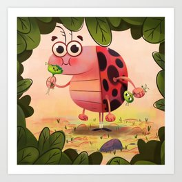 Hungry ladybird Art Print
