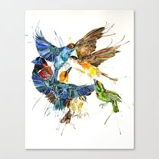 Birds Galore Canvas Print
