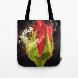 """Rose Blk"" Tote Bag"