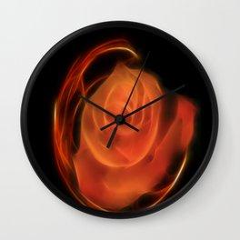 Fractal Rose Wall Clock