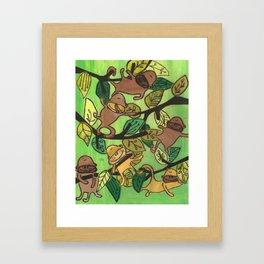 Monkeys in the Trees Framed Art Print