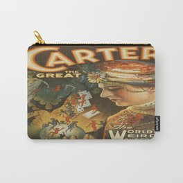 Vintage poster - Carter the Great Carry-All Pouch