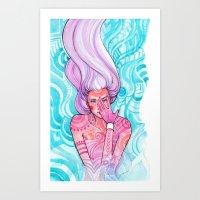 luna Art Prints featuring Luna by Verismaya