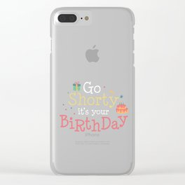 Birthday - Celebration - Party Graphic Clear iPhone Case