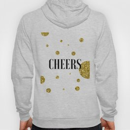 Champagne Quotes Cheers POP FIZZ CLINK Sign Printable Art Foil Print Gold Foil Alcohol Quote Hoody