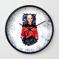 picard Wall Clocks featuring Captain Picard Day by Lady Yate-xel