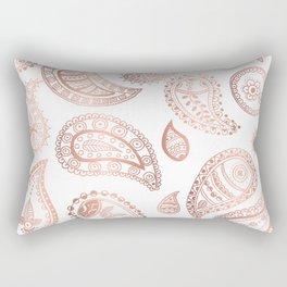 Rose gold paisley Rectangular Pillow