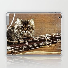 Music was my first love - cat and bassoon Laptop & iPad Skin