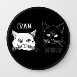 Ivan and Dobby Collegiate Inverse Wall Clock