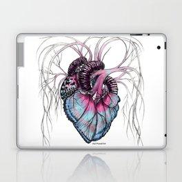 Butterfly Heart Blue Laptop & iPad Skin