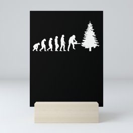 Tree Feller Evolution Ax Saying Forester Mini Art Print
