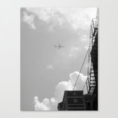 Leaving On A Jet Plane ~ black and white Canvas Print