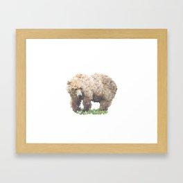 Penrose Tiling Bear Framed Art Print