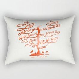 Your hear (monochrome version) Rectangular Pillow
