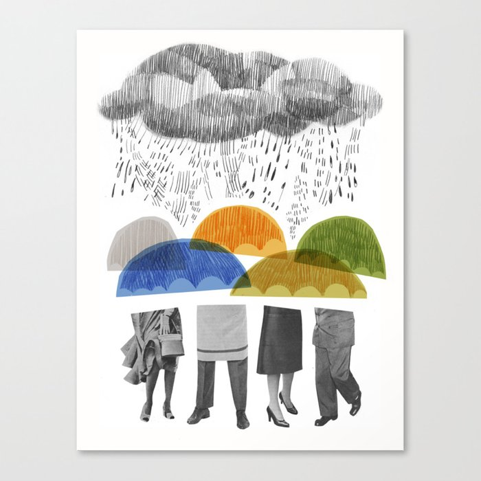 cloudy days for uppercase mag Canvas Print