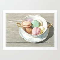macarons Art Prints featuring Macarons by Catching Sundust