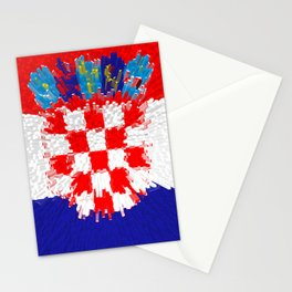 Extruded flag of Croatia Stationery Cards