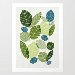 Forest Elements Art Print