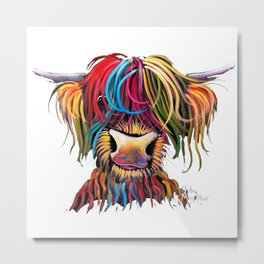 HiGHLaND CoW PRiNT SCoTTiSH ' NeLLY ' BY SHiRLeY MacARTHuR Metal Print