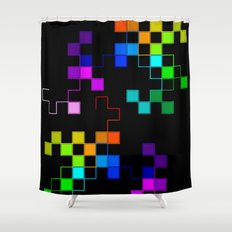 squares and squares again Shower Curtain