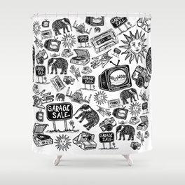 Shreya Print Shower Curtain