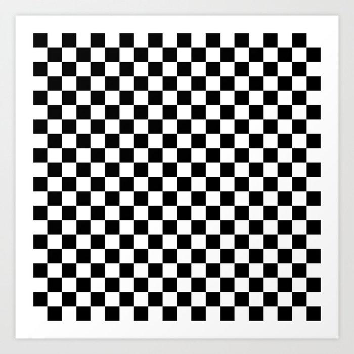 Black Checkerboard Pattern Kunstdrucke