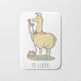 """Llama, """"Yo Llama!"""" Bath Mat"""