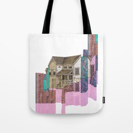 glitch house illustration Tote Bag