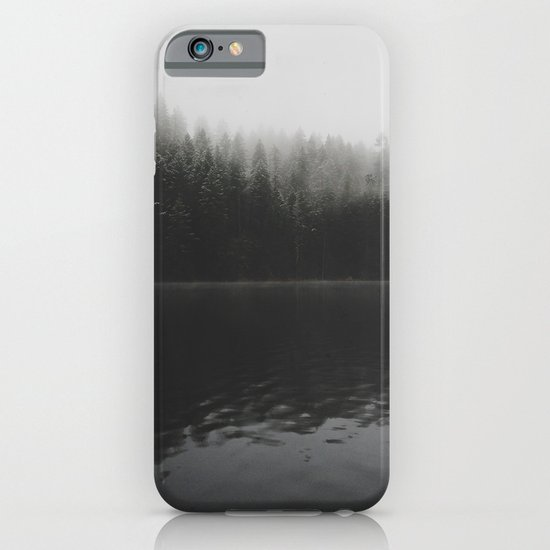 Verticle Frosted Trees Lake iPhone & iPod Case