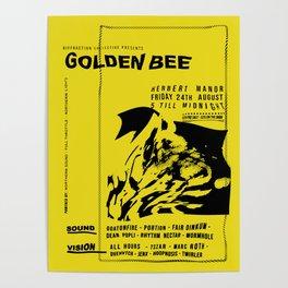 Golen Bee Gig Poter Poster