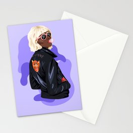 She is fierce Stationery Cards