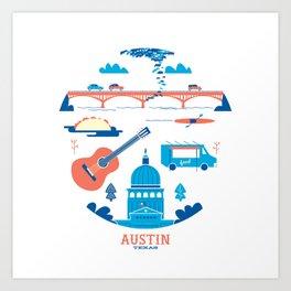 Love Letter to Austin, Texas Art Print