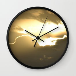 head in the clouds - tina stenford 9 Wall Clock