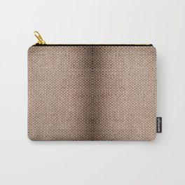 Beige burlap cloth texture abstract Carry-All Pouch