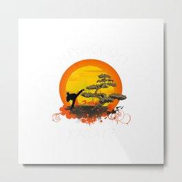 Miyagi-Do Karate Figure Bonsai Tree T shirt Asian Culture T-Shirt Metal Print