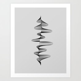 Abstract 80s Soundwave Art Music Audio black and white Musical design home wall bedroom decor Art Pr Art Print