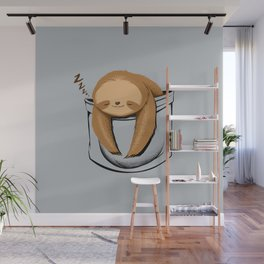 Sloth in a Pocket Wall Mural