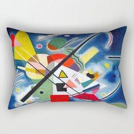 Wassily Kandinsky - Blue Painting - Abstract Art Rectangular Pillow