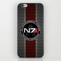n7 iPhone & iPod Skins featuring N7 by aleha