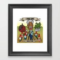 A Gnome Farmer (Morgan Freeman) Framed Art Print
