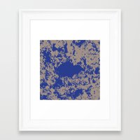 david fleck Framed Art Prints featuring mauer fleck by wolasek design