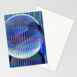 lights in the globe Stationery Cards