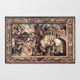 Triumph of Constantine over Maxentius at the Battle of the Milvian Bridge Canvas Print