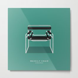 Wassily Chair - Marcel Breuer Metal Print