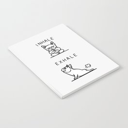 Inhale Exhale French Bulldog Notebook