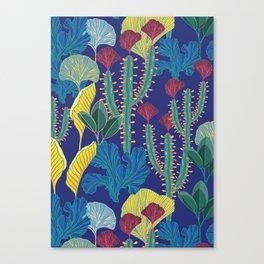 Tropical blue pattern Canvas Print