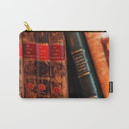 Rustic Antique Library Books Shelf Carry-All Pouch
